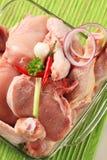свинина мяса цыпленка сырцовый Стоковая Фотография
