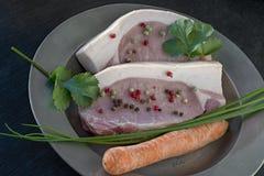 Свинина назад с перцами стоковая фотография rf