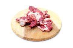 Свинина на разделочной доске Стоковое фото RF