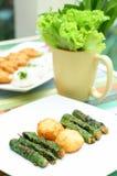 Свинина с обручем veggie стоковая фотография rf
