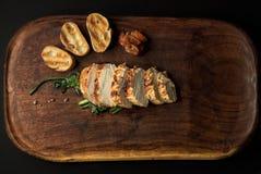 Свинина с сладким картофелем стоковая фотография rf