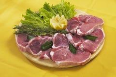 свинина chop доски Стоковая Фотография