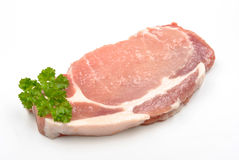 свинина chop органический сырцовый Стоковые Изображения