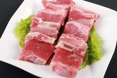 свинина chop сырцовый Стоковые Изображения RF