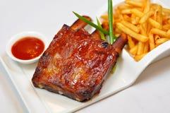 свинина fries chops стоковая фотография