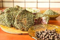 свинина marinated chop Стоковое Фото
