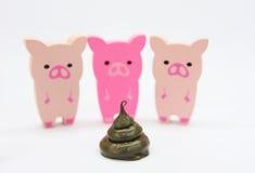 свиньи лесистые Стоковые Фотографии RF