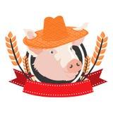 Свинья в формате Стоковое Фото