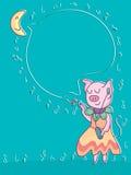 Свинья деля музыку Стоковые Изображения