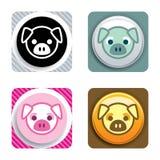 свинья иконы Стоковые Фото