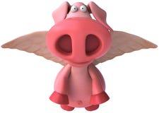 свинья летания иллюстрация штока