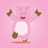 свинья персонажа из мультфильма стоковые изображения