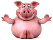 Свинья потехи - иллюстрация 3D иллюстрация штока