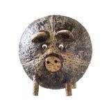 Свинья раковины кокоса handmade в Таиланде стоковая фотография rf