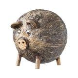 Свинья раковины кокоса handmade в Таиланде стоковые фото