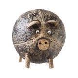 Свинья раковины кокоса handmade в Таиланде стоковые изображения