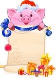 Свинья символ нового 2019 год иллюстрация вектора