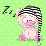 Свинья спать Стоковые Изображения RF