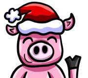 Свинья счастливого рождеств бесплатная иллюстрация