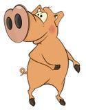 Свинья усмехается шарж Стоковая Фотография RF