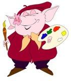 свинья художника Стоковое фото RF