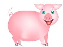 свинья шаржа милая Стоковое Изображение