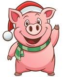 Свинья шаржа иллюстрация вектора