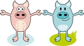 Свинья шаржа Стоковые Фото