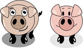 Свинья шаржа Стоковая Фотография