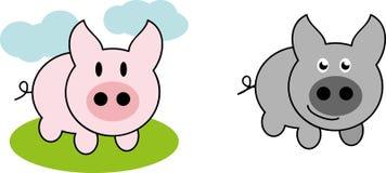 Свинья шаржа Стоковое Изображение RF