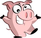 Свинья шаржа Стоковое Изображение