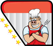 свинья шеф-повара Стоковое Изображение