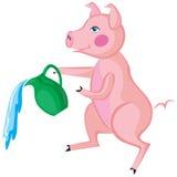свинья Иллюстрация штока