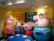свинья peppa семьи Стоковое Изображение RF