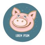 Свинья template-12 стоковая фотография rf