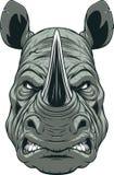 Свирепая голова носорога иллюстрация штока