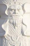 Свирепая сторона на китайском панцыре бога Стоковая Фотография