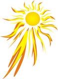 свирепое горячее солнце Стоковая Фотография