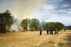 Свирепствуя лесной пожар в Port Elizabeth, Южной Африке стоковая фотография rf