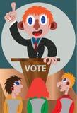 Свирепый политик на этапе бесплатная иллюстрация