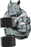 Свирепый сильный носорог Стоковые Изображения RF