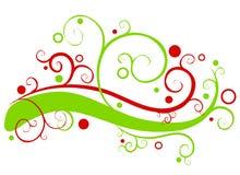 свирли гирлянды рождества декоративные иллюстрация вектора