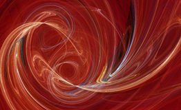 свирль абстрактной фрактали конструкции померанцовая Стоковые Фотографии RF
