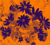 свирль букета померанцовая пурпуровая живая Стоковая Фотография
