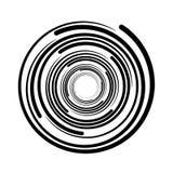Свирль вортекса круговая выравнивает черный символ иллюстрация штока