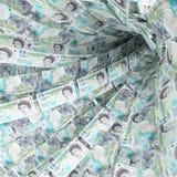 Свирль денег 5 фунтов стоковые изображения rf