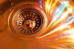 свирль раковины кухни цвета Стоковая Фотография