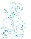 свирль флористического орнамента Стоковые Изображения RF