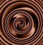 свирль шоколада сметанообразная Стоковое Изображение RF