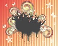 свирль grunge вентиляторов Стоковое Фото